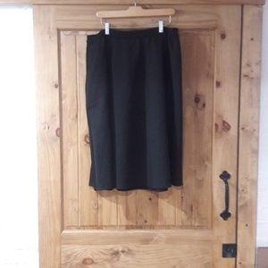 dressbarn black midi skirt